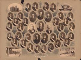 Photographic collage of the Dalhousie University Arts and Science faculty and class of 1901