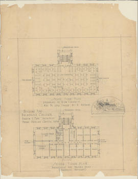 Technical drawing of a building for Dalhousie College