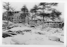 Photograph of the Shirreff Hall women's residence construction