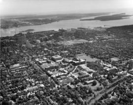 Aerial photograph of Dalhousie and Halifax