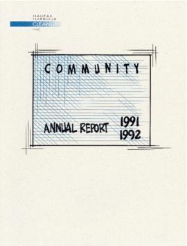 Community annual report 1991 1992