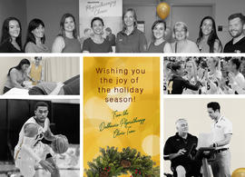 Christmas card from the Dalhousie University Physiotherapy Clinic