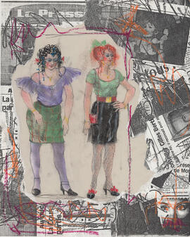 Costume design for chorus : two women