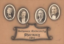Photographic collage of the Dalhousie University pharmacy class of 1935