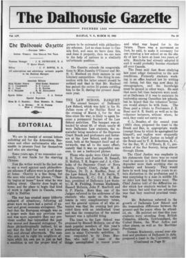 The Dalhousie Gazette, Volume 54, Issue 10