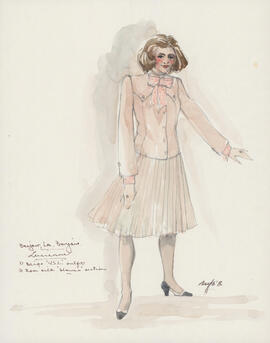 Costume design for Lucienne