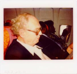 Photograph of Arvid Pardo on a plane