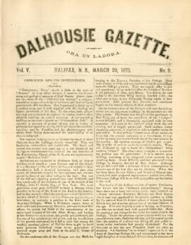 Dalhousie Gazette, Volume 5, Issue 9