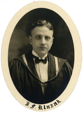Portrait of John Frank Kluzak : Class of 1926
