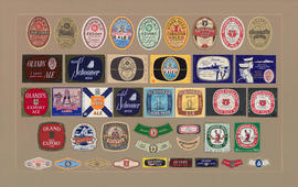 Composite of Beer Labels from the Keith and Olands Breweries