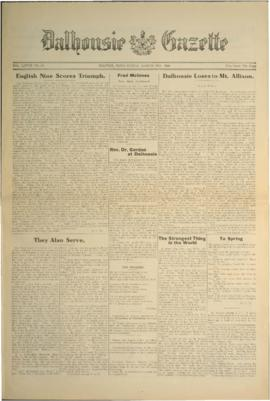 Dalhousie Gazette, Volume 58, Issue 18