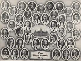 Composite photograph of Faculty of Law class of 1936