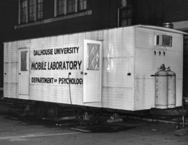 Photograph of psychology mobile laboratory