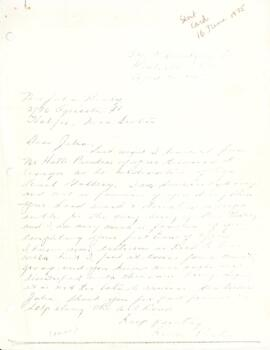 Correspondence to Julia Healy from Royce Porter