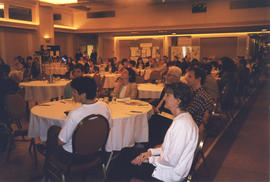 Photograph of conference room related to health with attendees