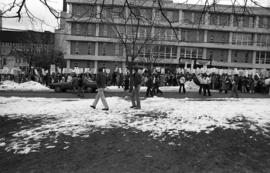 Photograph of a protest against tuition increases