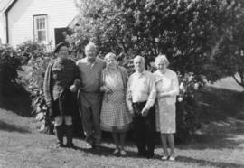 Photograph of Weldon Guy Morash, his wife Florence and members of his family.