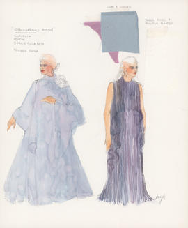 Costume design for Cordelia, Portia, Queen Elizabeth
