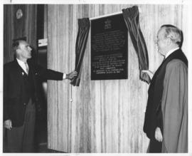 Photograph from the official opening of the Tupper Building
