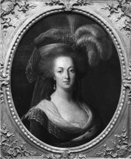 Photograph of painting of Marie Antoinette