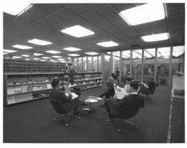 Photograph of people reading in the Sir James Dunn Law Library