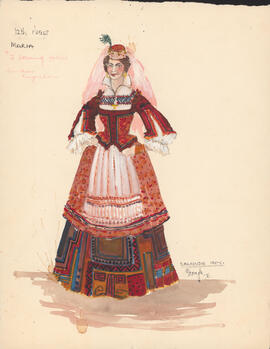 Costume design for Maria