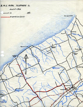Map of B.M.C. Rural Telephone Company's telephone line