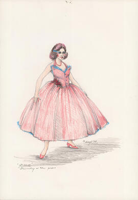 Costume design for Frenchie at the prom
