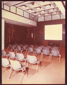 Photograph of an auditorium in the Killam Memorial Library