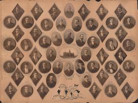 Photographic collage of the Dalhousie University Arts and Science Class of 1905