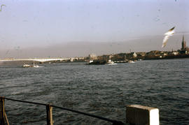 Photograph of the Rhine with bridge