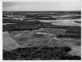 Aerial photograph of the GATR site in Gypsumville, Manitoba
