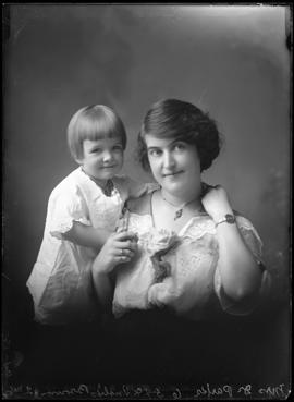Photograph of Mrs. Dr. Parks & baby