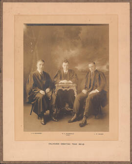 Photograph of Dalhousie Debating Team