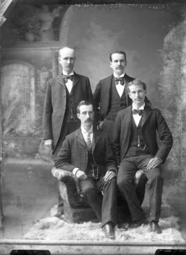 Photograph of Mr. Stewart and friends