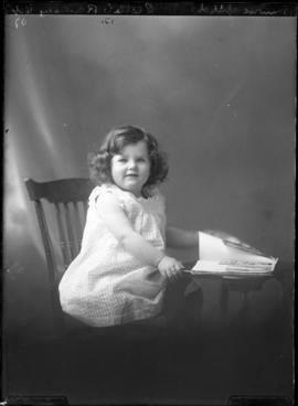 Photograph of the daughter of Mrs. Munroe