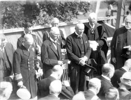 Photograph of Archbishop Worrell giving an invocation