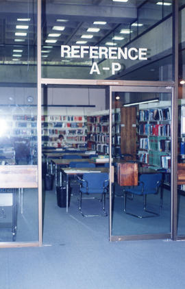 Photograph of the J.J. Stewart Reference Room at the Killam Memorial Library, Dalhousie University
