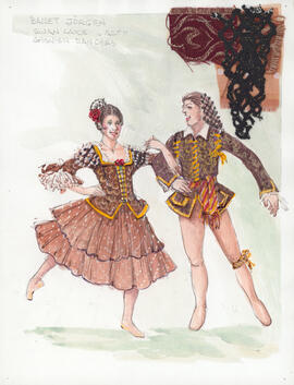 Costume design for Spanish Dancers : Act 2