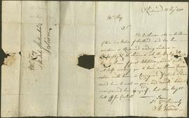 One letter to James Dinwiddie from R. Vevers