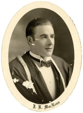 Portrait of John Raymond MacLean : Class of 1930