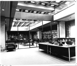 Photograph of the information services area in the Killam Memorial Library