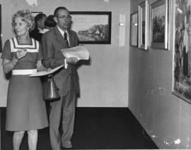 Photograph of unidentified guests at a Dalhousie Art Gallery reception
