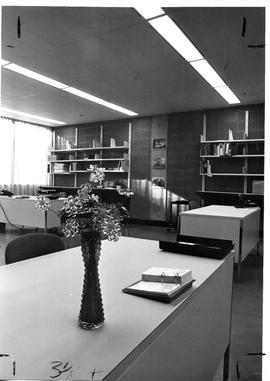 Photograph of the technical services office in the Killam Memorial Library