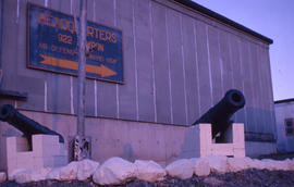 Photograph of two cannons in Cartwright, Newfoundland and Labrador