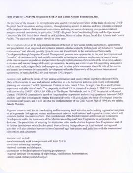 Draft concept paper for project proposal on the United Nations Environment Programme (UNEP) Regio...