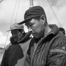 Photograph of Josephee Ananak and Ned Emudluk in Fort Chimo, Quebec