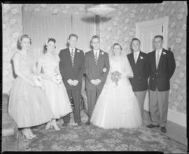 Photograph of Mr. & Mrs. Grice and the wedding party