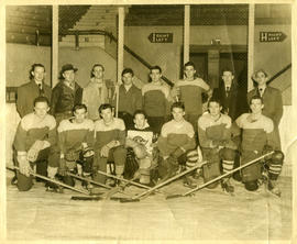 Photograph of the 1950-1951 Dalhousie Law Hockey team