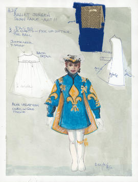 Costume design for Pages at the Ball : Act 2